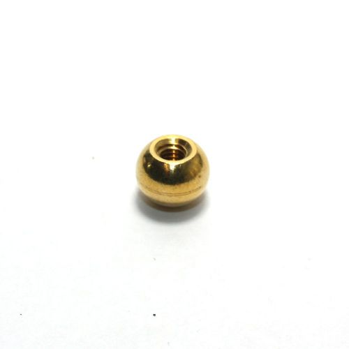 Solid Brass Approx 9.75mm Ball Finial 4mm thread
